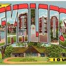 OSKALOOSA, Iowa large letter linen postcard Teich