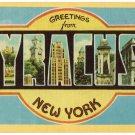 SYRACUSE, New York large letter linen postcard Dexter