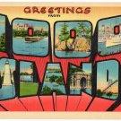 1000 ISLANDS, New York large letter linen postcard Metropolitan