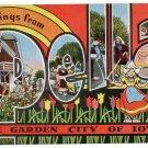 PELLA, Iowa large letter linen postcard Kropp