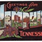 MEMPHIS, Tennessee large letter linen postcard Kropp