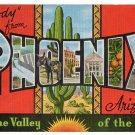 PHOENIX, Arizona large letter linen postcard Kropp