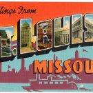 ST. LOUIS, Missouri large letter linen postcard Colourpicture