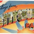 GETTYSBURG, Pennsylvania large letter linen postcard Tichnor