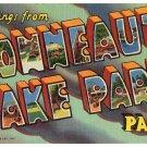 CONNEAUT LAKE PARK, Pennsylvania large letter linen postcard Teich