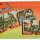 DELAWARE WATER GAP, Pennsylvania large letter linen postcard Colourpicture