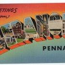 LEBANON, Pennsylvania large letter linen postcard Tichnor
