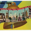 PHILADELPHIA, Pennsylvania large letter linen postcard Colourpicture