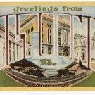 ALTOONA, Pennsylvania large letter linen postcard Dexter