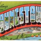 YOUNGSTOWN, Ohio large letter linen postcard Kropp