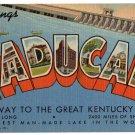 PADUCAH, Kentucky large letter linen postcard Teich