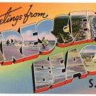 CRESCENT BEACH, South Carolina large letter linen postcard Tichnor