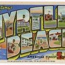 MYRTLE BEACH, South Carolina large letter linen postcard Teich