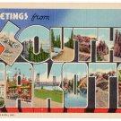 SOUTH DAKOTA large letter linen postcard Teich