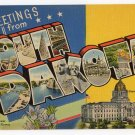 SOUTH DAKOTA large letter linen postcard Tichnor