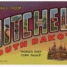 MITCHELL, South Dakota large letter linen postcard Teich