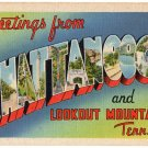 CHATTANOOGA, Tennessee large letter linen postcard Tichnor