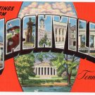 NASHVILLE, Tennessee large letter linen postcard Kropp