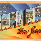 CAPE MAY, New Jersey large letter linen postcard Tichnor