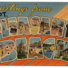 POINT PLEASANT BEACH, New Jersey large letter linen postcard Tichnor