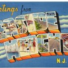 SEASIDE HEIGHTS, New Jersey large letter linen postcard Tichnor