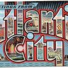 ATLANTIC CITY, New Jersey large letter linen postcard Kropp