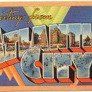 ATLANTIC CITY, New Jersey large letter linen postcard Tichnor