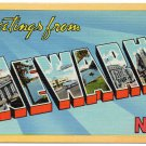 NEWARK, New Jersey large letter linen postcard Colourpicture