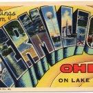 VERMILION, Ohio large letter linen postcard Teich