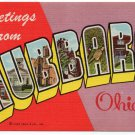 HUBBARD, Ohio large letter linen postcard Teich