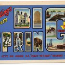 BIG SPRING, Texas large letter linen postcard Teich
