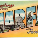 MARFA, Texas large letter linen postcard Colourpicture