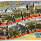 SKYLINE DRIVE, Virginia large letter linen postcard Tichnor