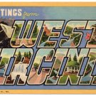WEST VIRGINIA large letter linen postcard Teich
