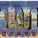FORSYTH, Montana large letter linen postcard Tichnor