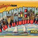 PROVINCETOWN, Massachusetts large letter linen postcard Teich