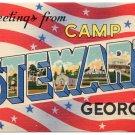 CAMP STEWART, Georgia large letter linen postcard Colourpicture