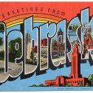 NEBRASKA large letter linen postcard Kropp