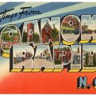 ROANOKE RAPIDS, North Carolina large letter linen postcard Tichnor