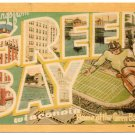 GREEN BAY, Wisconsin large letter linen postcard Dexter