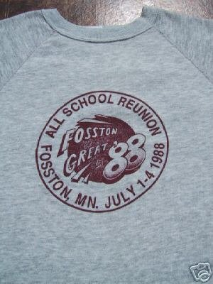 FOSSTON, MN reunion 1988 XXL SWEATSHIRT punk emo