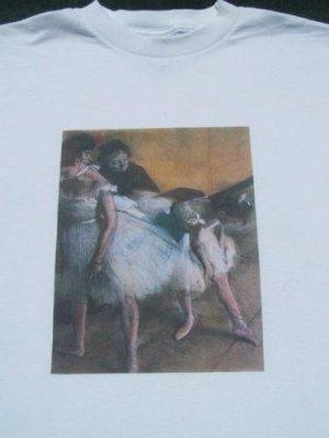 painter EDGAR DEGAS ballet dancers MEDIUM T-SHIRT art