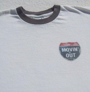 MOVIN' OUT musical BILLY JOEL TWYLA THARP small T-SHIRT