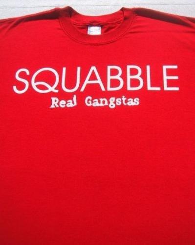 SQUABBLE real gangstas XL single promo T-SHIRT hip hop