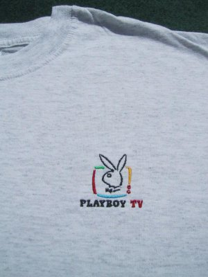 PLAYBOY TV embroidered logo XL T-SHIRT