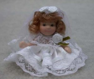 First Communion Porcelain Doll Show-stoppers Redhead