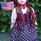 "Porcelain Doll ""Americana Sweetheart Collection"""
