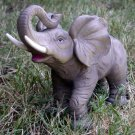Porcelain Elephant Figurine - Trumpeting