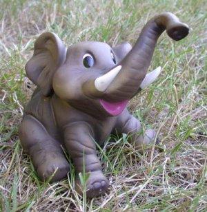 Elephant Figurine  - Sitting Back