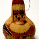 Christmas Ornament  Santa Gourd Handmade in Peru